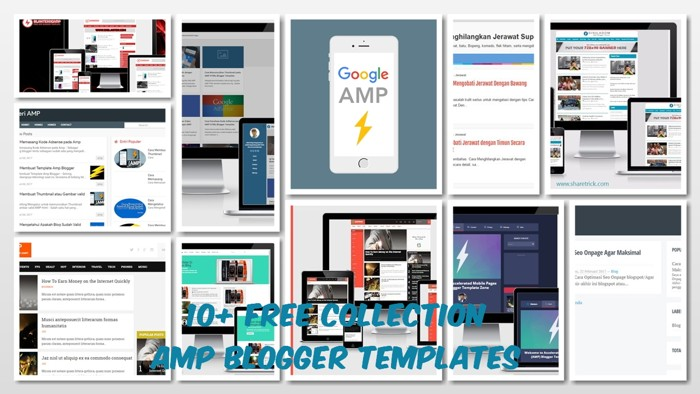10+ Free Collection AMP Blogger Templates