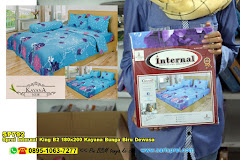 Sprei Internal King B2 180×200 Kayana Bunga Biru Dewasa