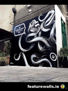 KRAKEN SPICED RUM GALWAY MURALS HAND PAINTED BY PROFESSIOANL IRISH MURAL PAINTING COMPANY