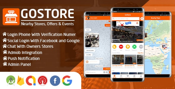 GoStore v1.0 - Nearby Stores, Offers & Events With Admin Panel