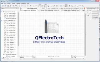 Screenshot 1 Qelectrotech Software Mengambar rangkaian listrik