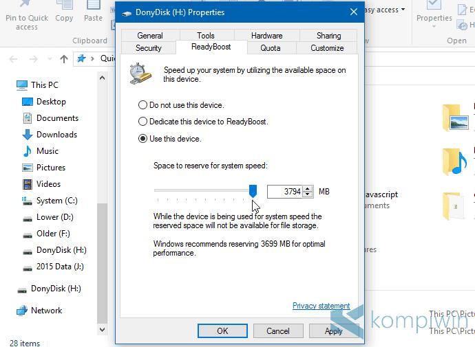 ReadyBoost, Mengubah Flashdisk 'Menjadi' RAM Tak Akan Menambah Kinerja PC 2