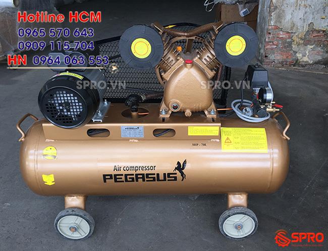 Máy nén khí PEGASUS TM-V-0.25/8-70 bình chứa 70 lít