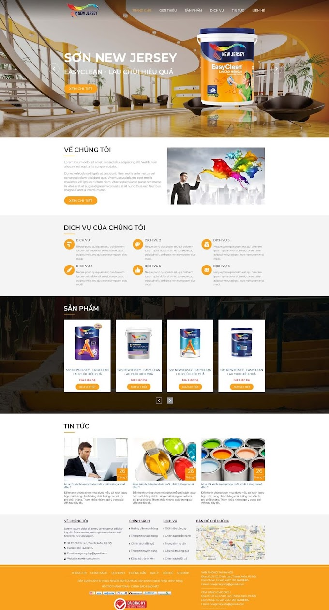 Mẫu website hãng Sơn