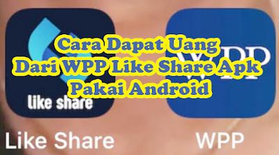 WPP Like Share Apk adalah versi terbaru Like Share Apk yang sempat viral beberapa waktu lalu karena dapat digunakan untuk mendapatkan uang dengan cepat lewat internet.     WPP Like Share Apk hadir dengan konsep yang lebih baik dengan dukungan fitur canggih untuk mempermudah para member dapat uang dari aplikasi yang dibuat oleh IDLIKE567 ini.  Bagi kamu yang sedang menggunakan Like Share Apk diwajibkan untuk  melakukan uninstal terlebih dahulu agar dapat menginstal WPP Like Share Apk di android yang sama.  Tetapi bagi yang masih belum pernah membuat akun Like Share Apk silahkan langsung saja download dan instal WPP Like Share Apk di android mu.  Misi Pada WPP Like Share Apk Versi Terbaru Like Share Apk ini menyediakan beberapa jenis misi yang harus diselesaikan para member agar bisa dapat uang. Berikut misi pada WPP Like Share Apk : Like Video Youtube Like Postingan Instagram Like Postingan Facebook Share Video Youtube Share Video Instagram  Share Video Facebook Keenam misi pada WPP Like Share Apk di atas sangat berpengaruh dengan penghasilanmu. Semakin rajin menyelesaikan banyak misi pada WPP Like Share Apk setiap hari maka semakin banyak uang didapat dari versi terbaru Like Share Apk ini.  Download WPP Like Share Apk Untuk Android Ingin download WPP Like Share Apk untuk android mu tapi tidak tahu link download nya ? Jangan cemas, kami bagikan di artikel ini buat kamu bro, langsung saja download WPP Like Share Apk untuk android mu lewat link http://ddd.dowapp189.com/down/likeid2.apk.  Setelah selesai download WPP Like Share Apk untuk android mu lewat link tersebut bisa kamu lanjut menginstal WPP Like Share Apk.  Cara Instal WPP Like Share Apk Di Android Silahkan ikuti cara instal WPP Like Share Apk di android mu dengan pedoman berikut ini : Download WPP Like Share Apk Buka pengaturan privachy Izinkan ponsel menginstal aplikasi dari pihak ketiga Buka folder penyimpanan hasil download WPP Like Share Apk di file manager Double klik file WPP Like Share Apk Lanjut pengin