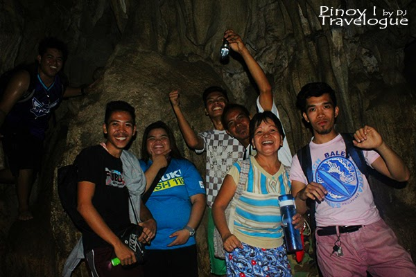 Group photo inside Calinawan Cave