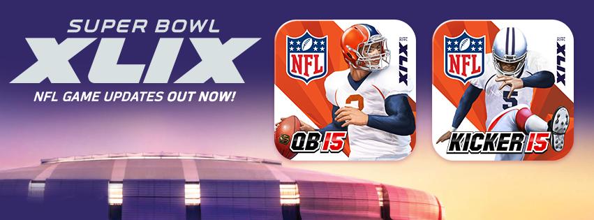 Video games: NFL Kicker 15 & NFL Quarterback 15 Super Bowl