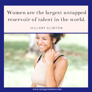 Hillary Clinton quote on  Women Women's Day Instagram Posts