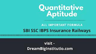 Quantitative Aptitude Formula E-Book 2018