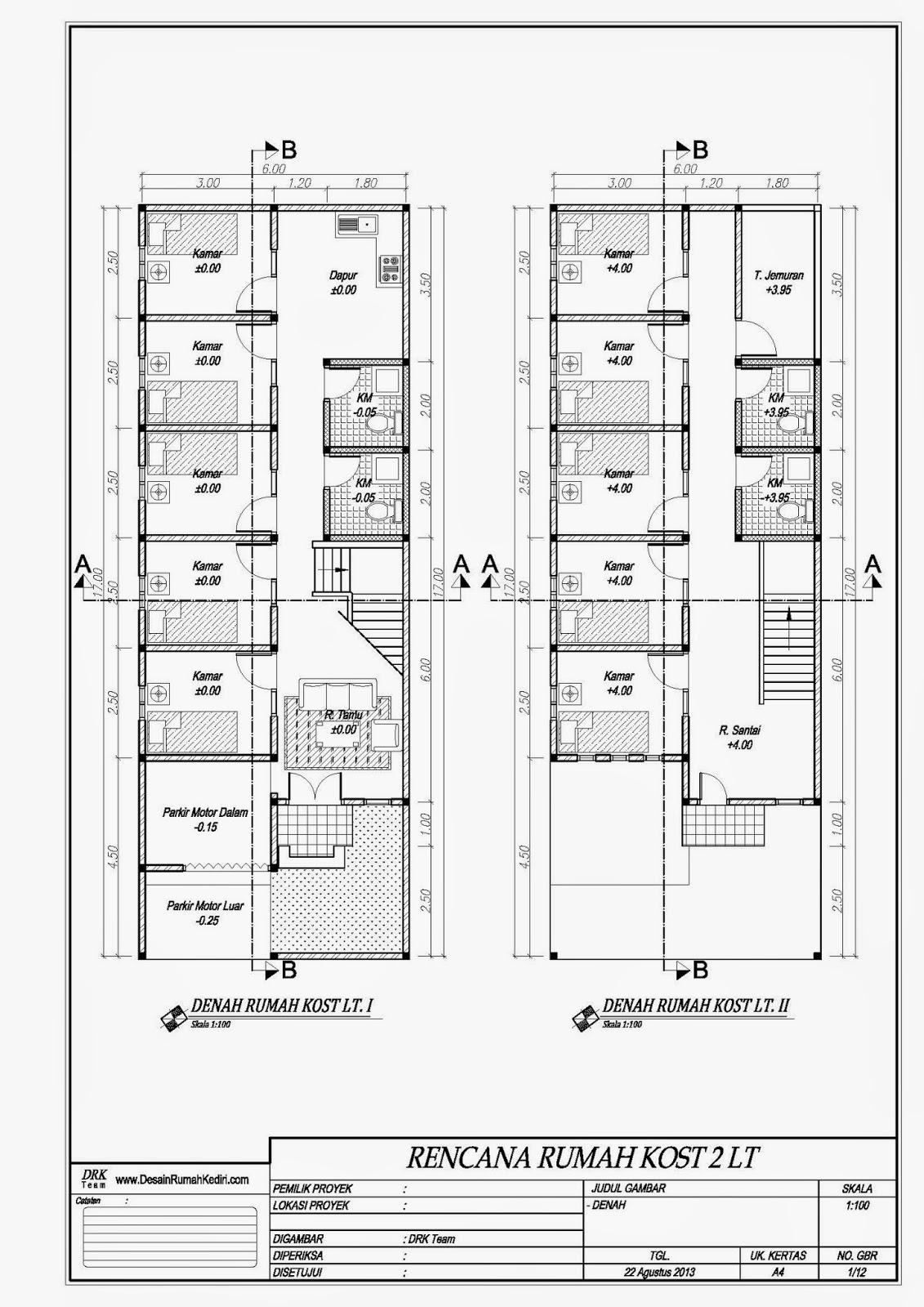 LT209  Rumah Kos Minimalis Candra Kirana Kota Kediri  Jasa desain dan bangun rumah Kediri