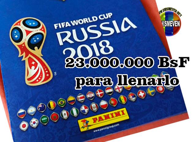 23 millones de BsF costará llenar el Album del Mundial de Fútbol de Panini