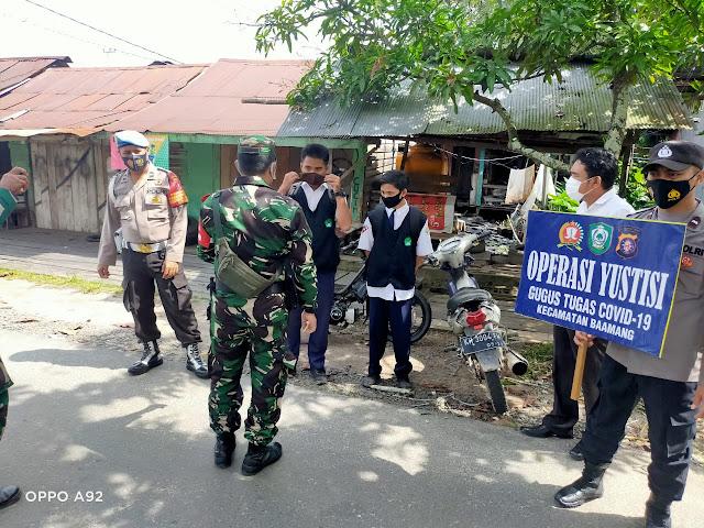 Operasi Yustisi Polsek Baamang Di Jalan Hasan Mansyur Kelurahan Baamang Tengah