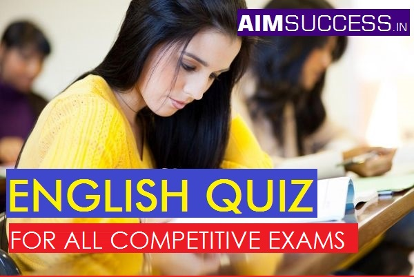 English MCQ for SBI Clerk/Syndicate