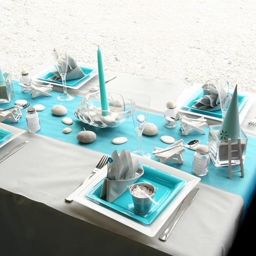 Photo gallery delle mise en place pi usate nei for Deco de table bleu et gris
