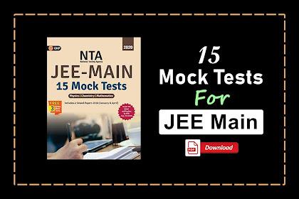 [PDF] 15 Mock Tests for JEE Main By GKP Publication | Download