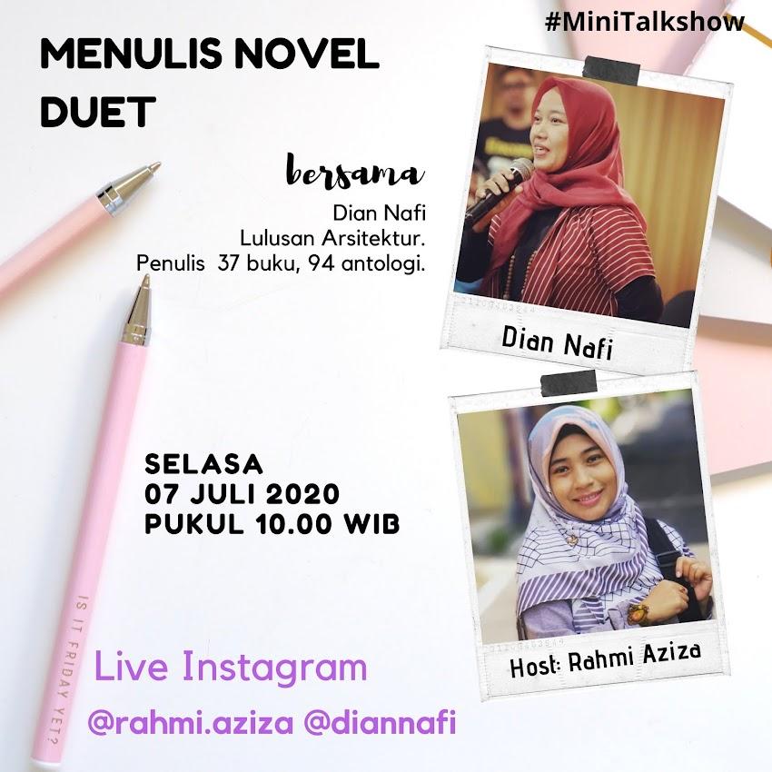 Talkshow Kiat Menulis Novel Duet