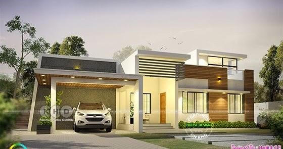 1600 Sq Ft Modern Single Floor Kerala Home Kerala Home
