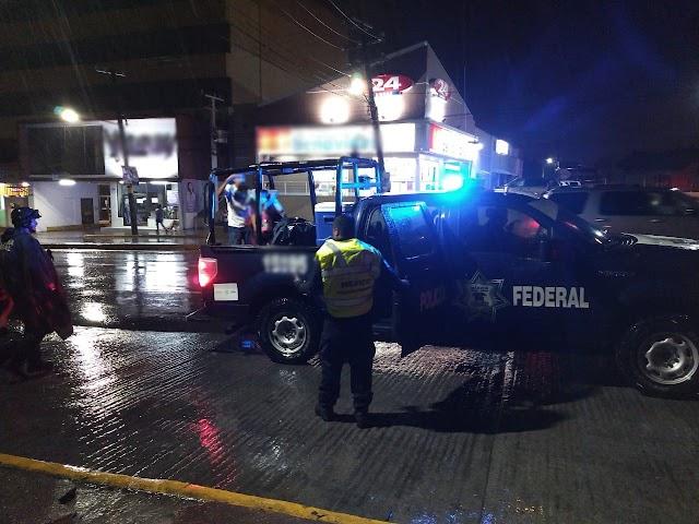 LA SSPC BRINDA AUXILIO A ALA POBLACIÓN ANTE INUNDACIONES EN TAMAULIPAS