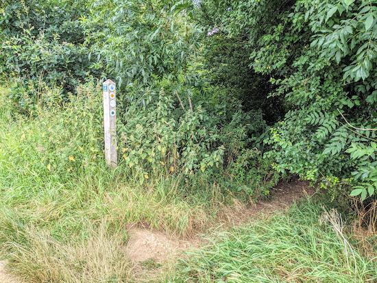 Turn right, still on Kimpton footpath 32 then head NE