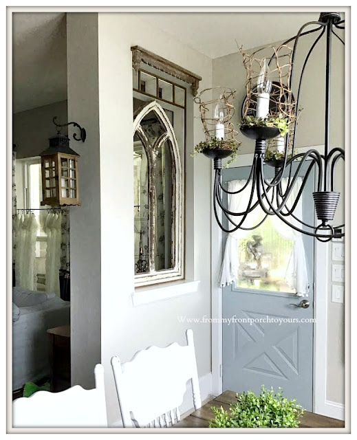 French Country Farmhouse-Cottage Style-DIY-Home Improvement-Faux Window-Adding Character--From My Front Porch To Yours