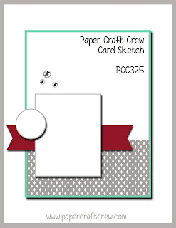 Paper Craft Crew Card Sketch Challenge Inspiration #PCC325