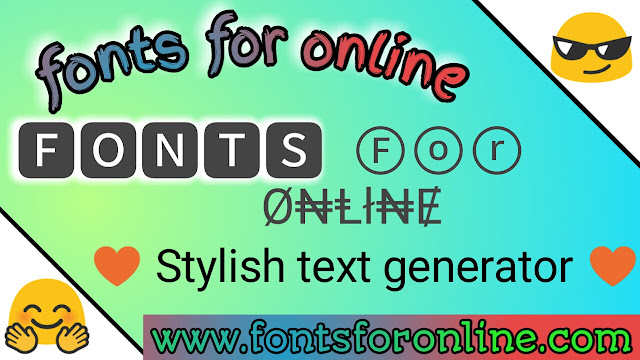 fonts for online