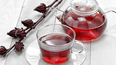 bunga rosella (Hibiscus sabdariffa ) dijadikan sebagai minuman kesehatan