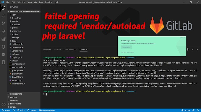 failed opening required 'vendor/autoload php laravel