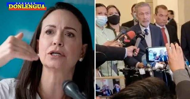 María Corina Machado advierte que hay que dejar de llamar Oposición a los que fueron a dialogar a México