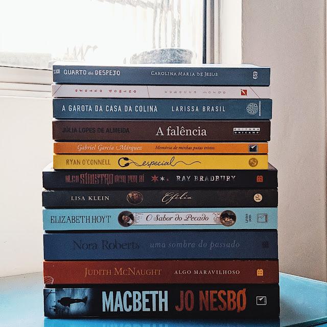 livros recebidos em julho
