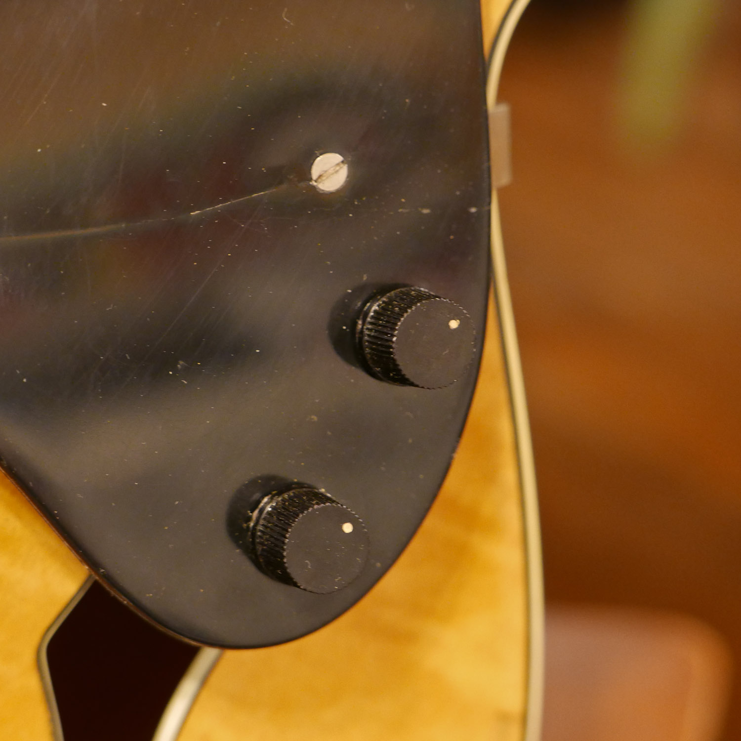 Jake Wildwood 1950s National New Yorker Archtop Electric Mandocello Simplicity Wiring Harness I Used Mini Pots And Knobs From An Original 60s Japanese Add On Guitar Pickup They Fit In Just Right This