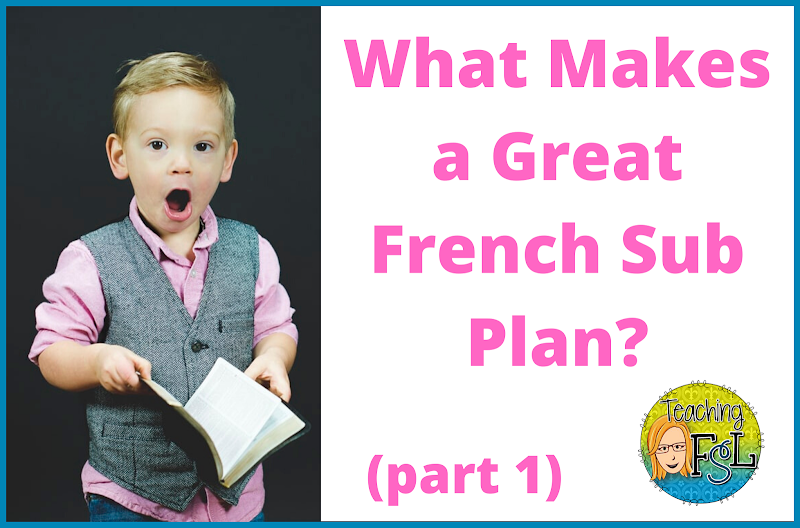 Best French Substitute Lesson Plans