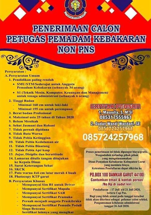 Penerimaan Calon Petugas Pemadam Kebakaran Non PNS