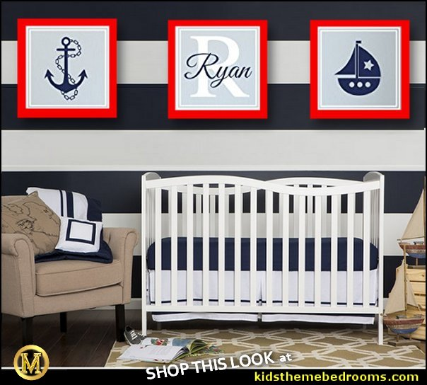 nautical baby bedroom decorating ideas - nautical nursery decor - sailboat nursery decor - nautical nursery wall decals - nautical crib bedding - nautical baby bedrooms nautical baby decor - baby kids nautical decor  Nautical Theme Baby Nursery