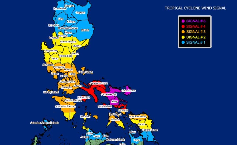 Super Typhoon 'Rolly' PAGASA weather update November 1, 2020
