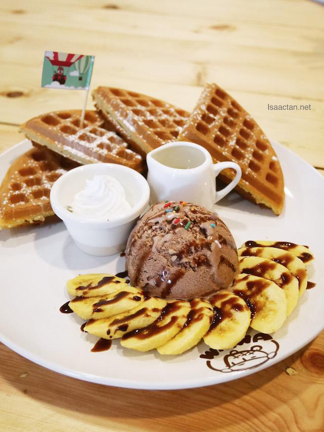 Chocolate Banana Waffle - A La Carte RM15.80 | Classic RM20.80 | Premier RM27.80