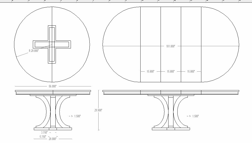 round table drawing dorset custom furniture a woodworkers photo journal a 3815