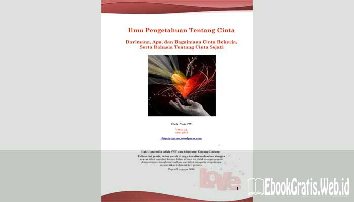 Ebook Ilmu Pengetahuan Tentang Cinta