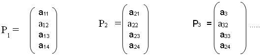Vector-proceso