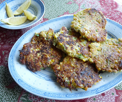 Summer Fish Cakes with Corn and Zucchini