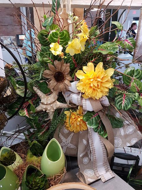 shoreline custom wreath, the Camellia, Thunder bay