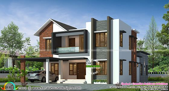 2755 square feet mixed roof Kerala home design
