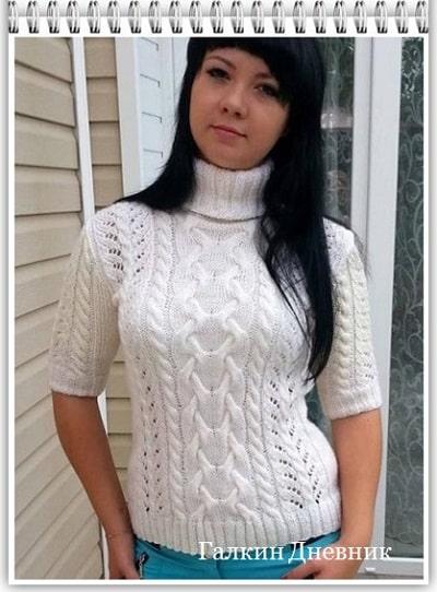 jenskii-sviter-spicami | strikking | بافندگی | dzianie | tricô | tricotare | การถัก