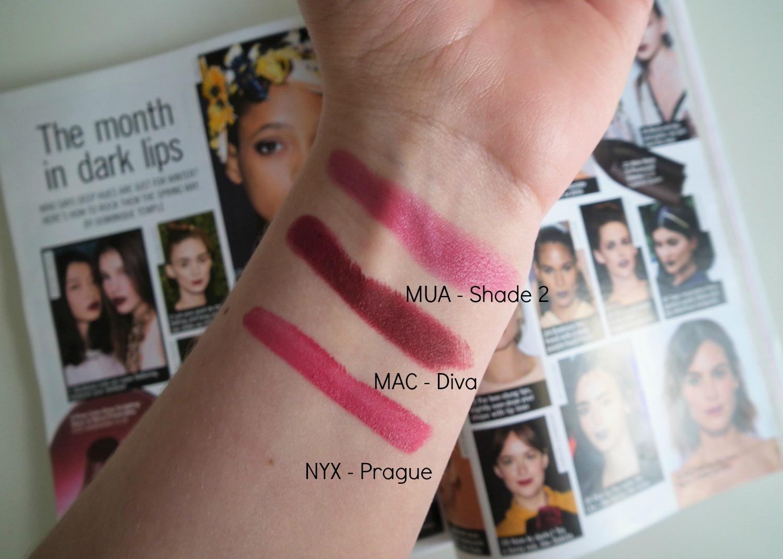 How To Rock A Berry Lip During Spring/Summer MUA Shade 2 MAC Diva NYX Prague