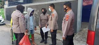 Patroli Protokol Kesehatan, Polres Pelabuhan Makassar sisir Pasar dan Pemukiman Masyarakat