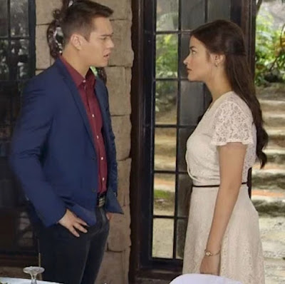 Enrique Gil and Liza Soberano in a scene from Dolce Amore
