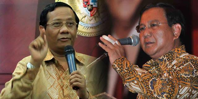Mahfud MD Mengaku Sudah Lama Tak Sepaham dengan Prabowo, Begini Komentar Warganet