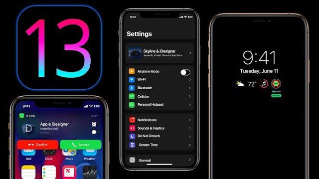 iOS 13 sistem operasinya iPhone