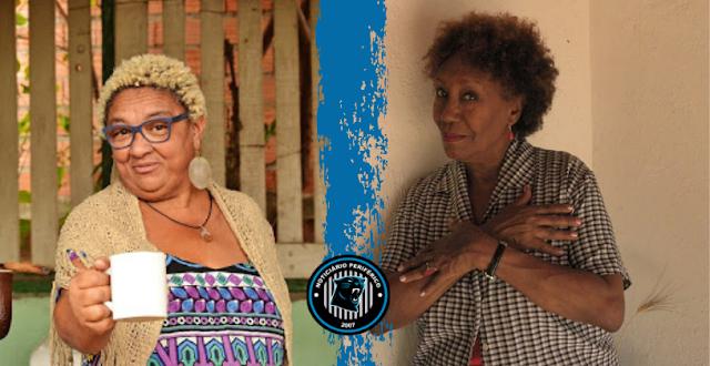 Poeta cubana Mirta Portillo e Dona Jacira se encontram em clube literário no Sesc