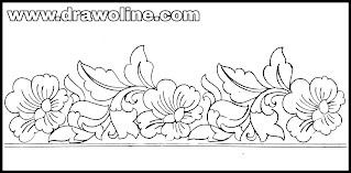 Aari embroidery border design paper/border design on tracing paper/tracing paper design drawing and sketches/aari embroidery designs.